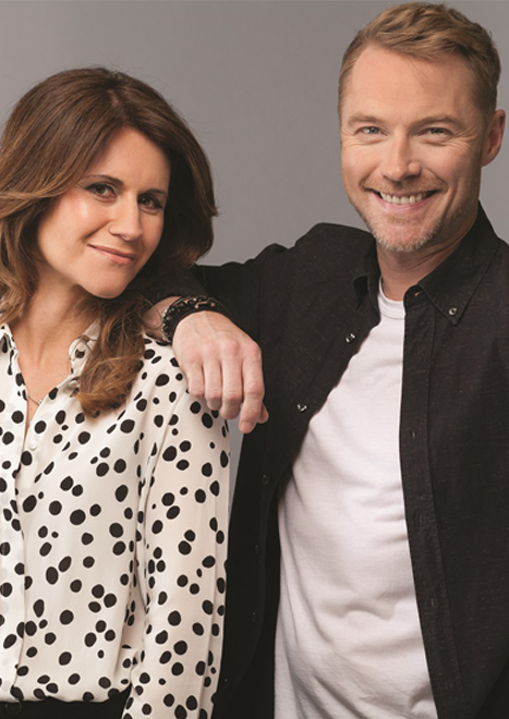 Ronan Keating and Harriet Scott