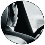 Photo: Mans face in a car